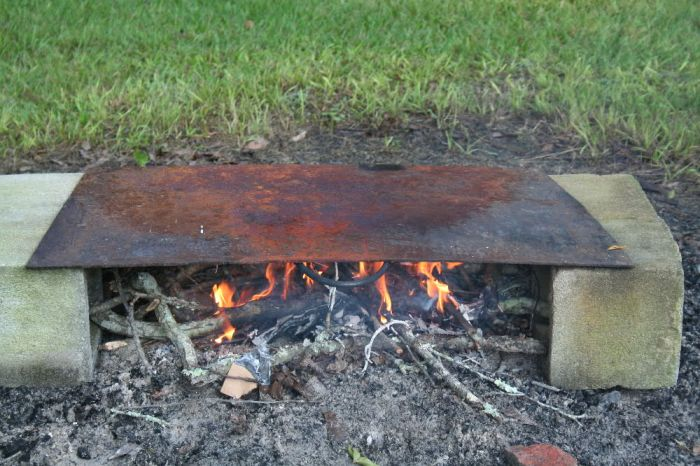 The most inexpensive and environmentally green outdoor cooking surface available.