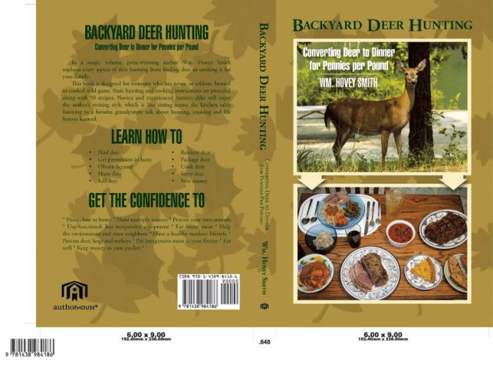 "Front and rear covers for ""Backyard Deer Hunting"""
