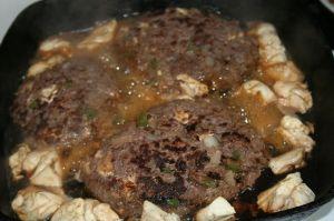 E-mail Ground deer burgers with puffball mushrooms