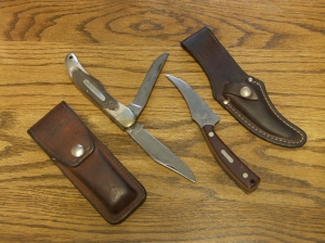 E-mail Folding and fixed blade knives which the author has used for decades