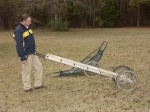 Foreground is Paul Presley with $35 deer barrow, commercial carrier from Cabela's in background.
