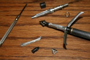 Replaceing the damaged components in the bottom of the picture enables this point and arrow to be returned to service.