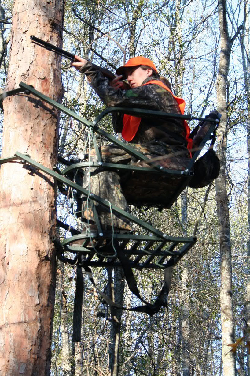 wooden tree stand building