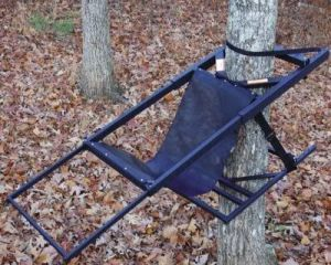 The original Tree Lounge tree stand. Many accessories were added over the years including wheel hits and covers.
