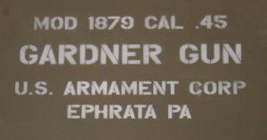 If not a Gatling gun, what about a Gardner?