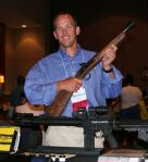CEO Pete Brownell with the author's blunderbuss.