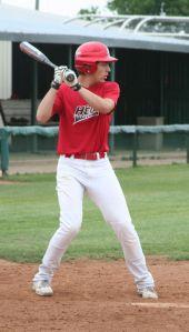 Chad Wiley at bat.