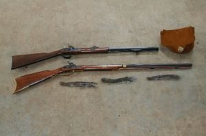 Two Traditions .32-caliber squirrel rifles.