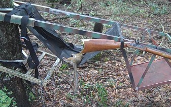 Squirrel Hunting with Two Traditions Replica  32-caliber