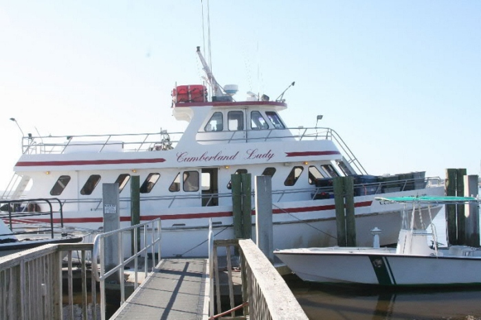 Cumberland Lady being loaded to take hunters on their 3-day hunt on the Cumberland Island National Seashore.