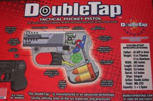 DoubleTap's design shown on pistol rug. The trigger is directly connected to the hammer spring and must completely compress it before the gun may be fired.