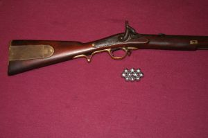 BR Brunswick Rifle with patch box and balls