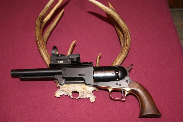 Colt Super Walker with the rack from its Ossabaw Island deer.