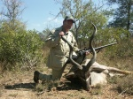 Author with kudu.