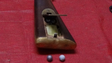 Installed latch on Brunswick rifle