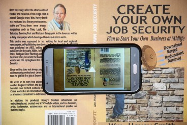 Smart Phone with book cover